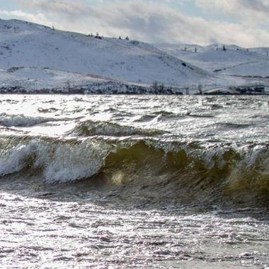 Nicola lake in Winter