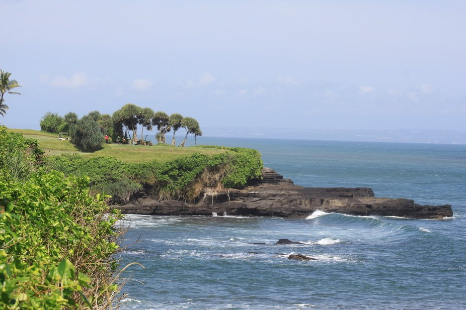 View From Top of Pura Tanah Lot