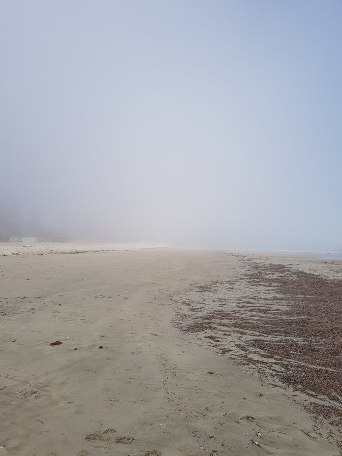 sea fog  at glenelg beach south australia