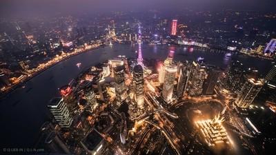 Fly above Shanghai