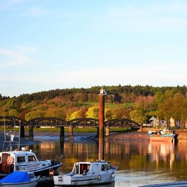 Kirkcudbright harbour is still a working, fishing boat harbour as well as a place to anchor leisure boats. It is a very peaceful place to visit and enjoy.