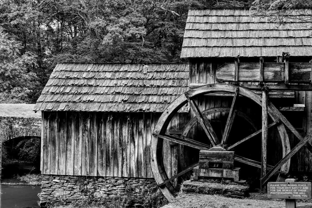 Iconic Mabry Mill near Meadows of Dan, Virginia