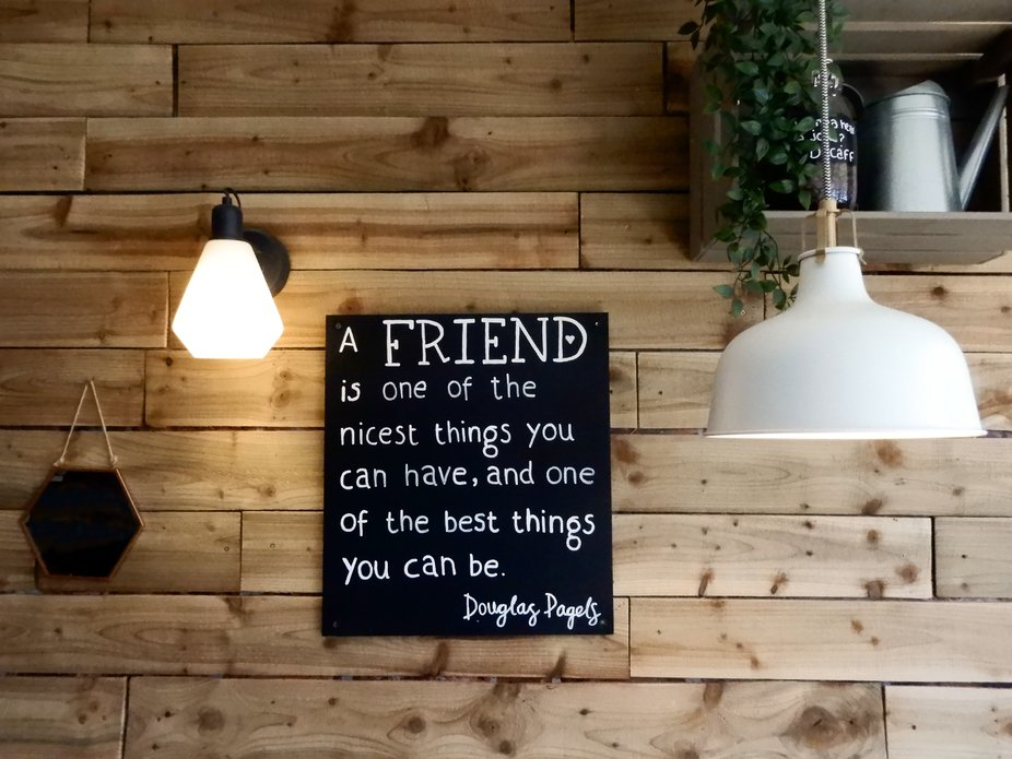 A sign I saw in a restaurant in Selsey. Love the sentiment!