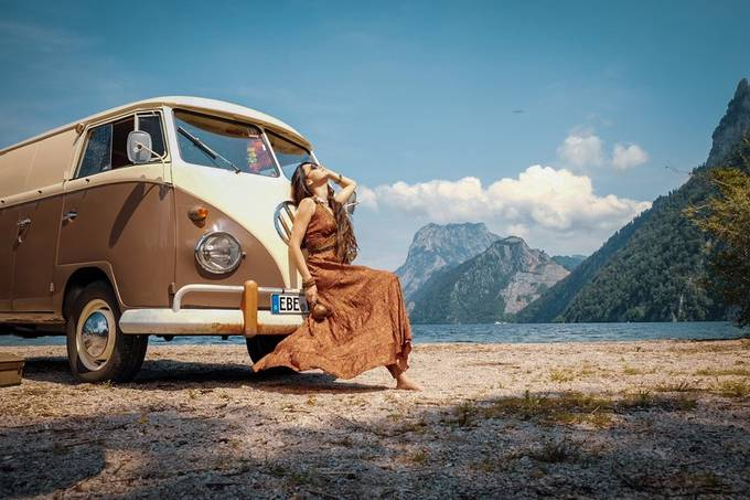 Hippiegirl and Bulli T1 1 by MR_fotoworx - We Love The Summer Photo Contest