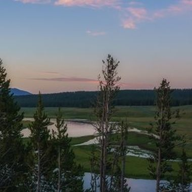 Evening comes to Yellowstone