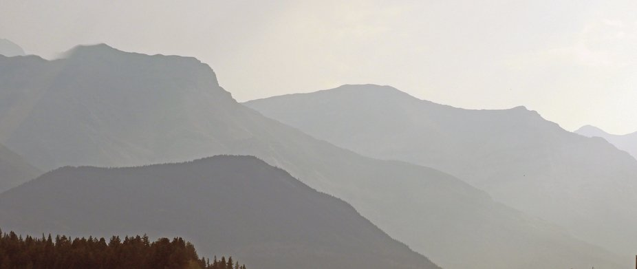 Driving from Calgary west in to Canmore, a heat haze hangs over the mountains; and a short but se...
