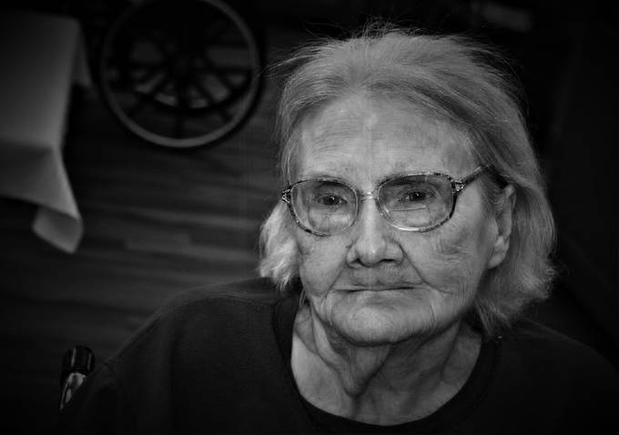 This is my last photograph of my mother,. Dec. 7, 2015.   She passed away the summer of 2016 at the age of 92.