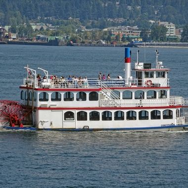 Paddle Steamer on Vancouver Harbour