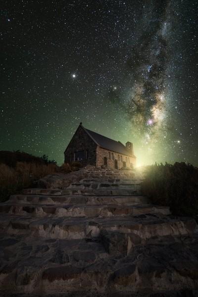 """Night Glow"" Lake Tekapo [New Zealand]"
