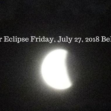 Lunar Eclipse Friday, July 27, 2018 Belgium2