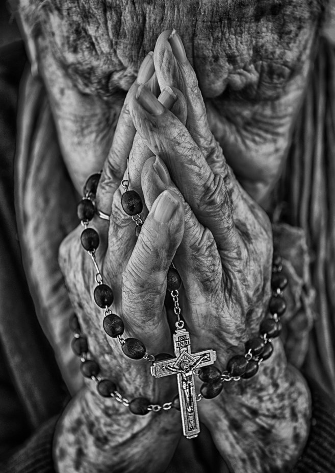 pray by sandraventura - Our World In Black And White Photo Contest