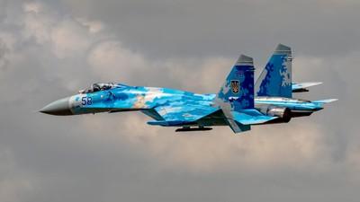 -The Ukrainian Air Force SU-27