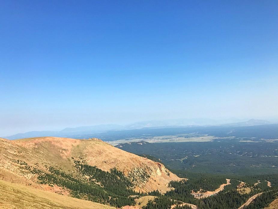 Heading up pikes peak in Colorado Springs Colorado