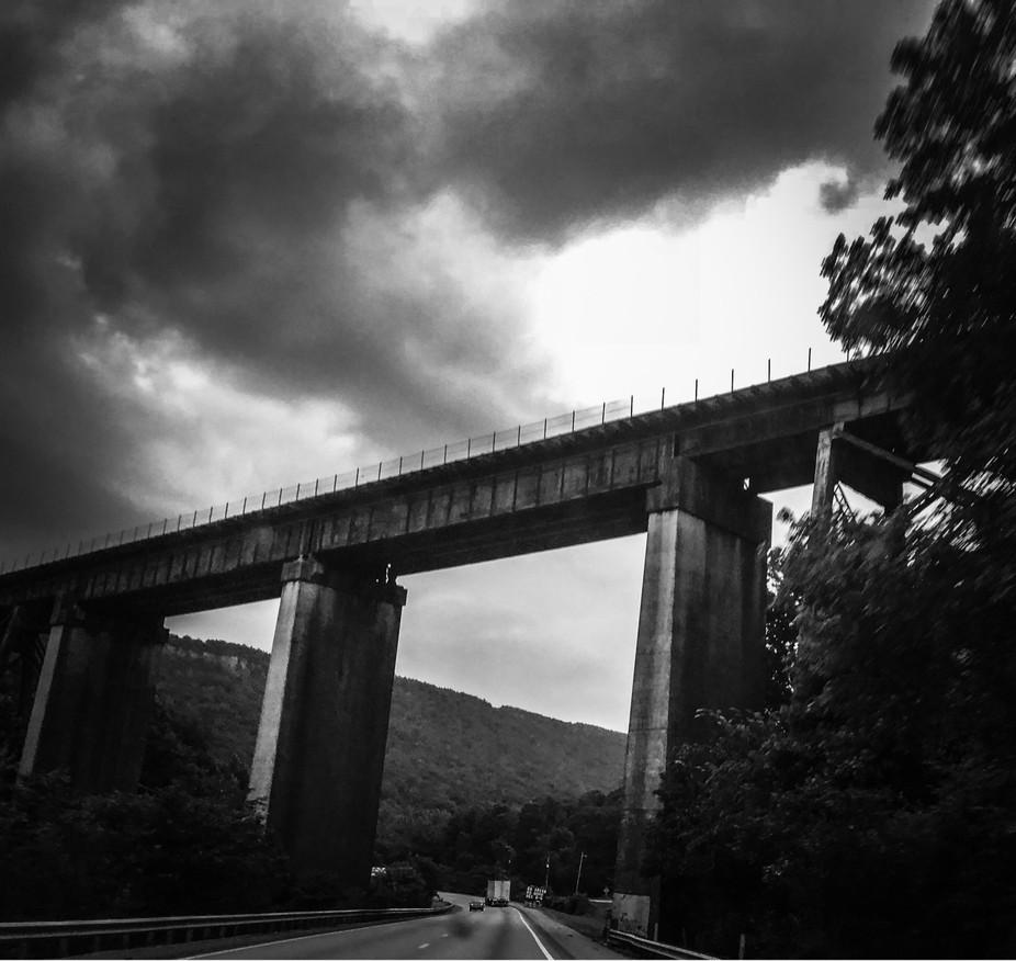 Railroad Trestle (B&W)