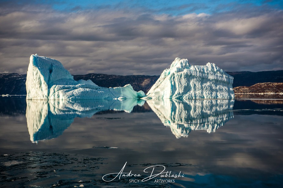 On the way to the famous Equ Glacier in Northwest Greenland at the end of the huge Dico Bay. Blac...