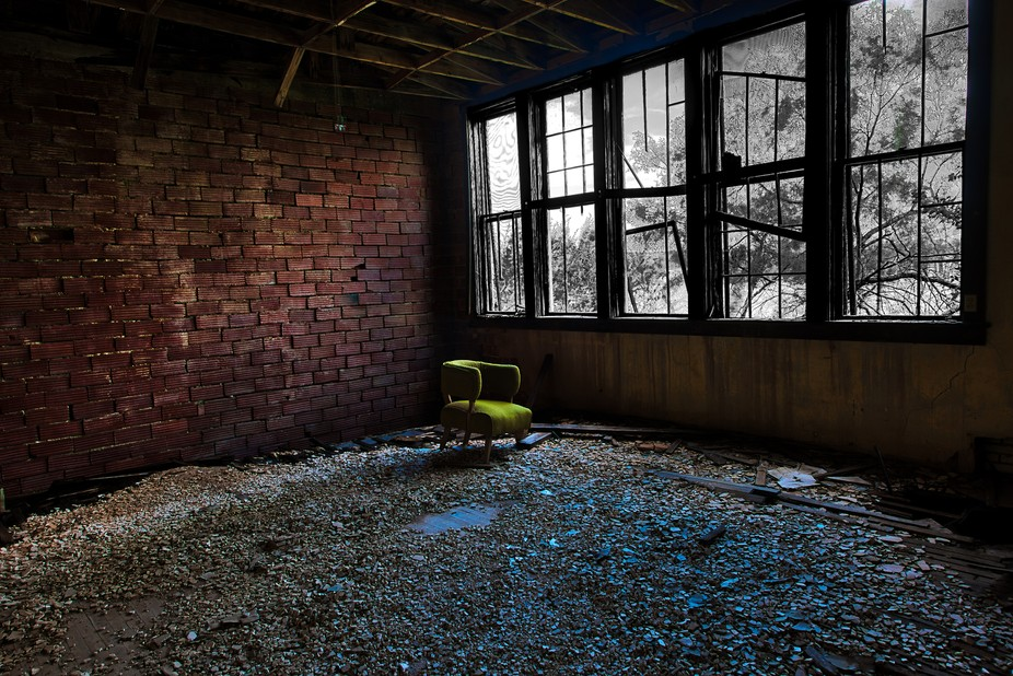 A abandoned school in Sarco, Texas.