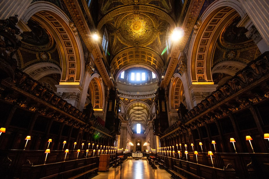 A shot from the choir stalls