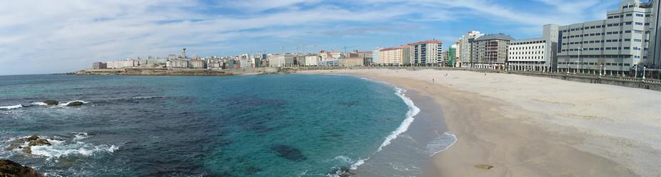 Beach in La Coruña