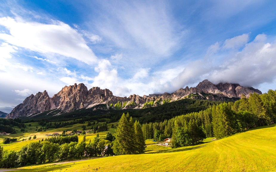 Dolomites view from the Cortina d'Ampezzo hill