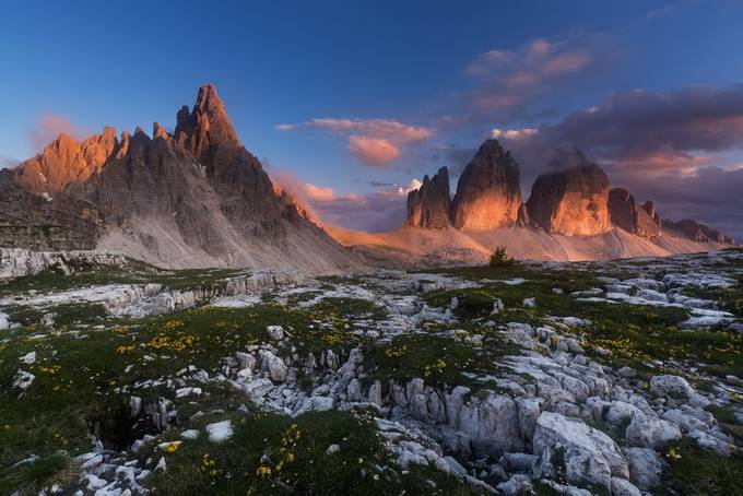 Three peaks of Lavaredo and mt. Paterno by methariorn78 - Earth Day 2020 Photo Contest