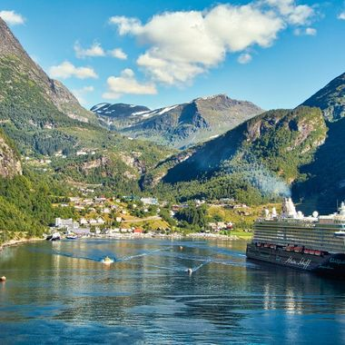 I took this photo when me and my wife went on a boat trip to Norway. This photo was taken from our ship, the Costa Favolosa.