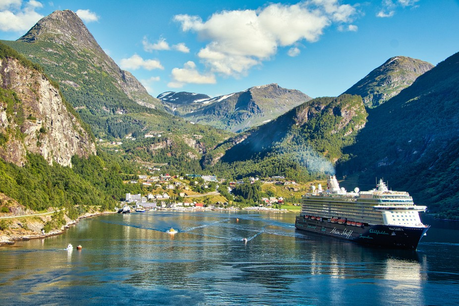 I took this photo when me and my wife went on a boat trip to Norway. This photo was taken from ou...