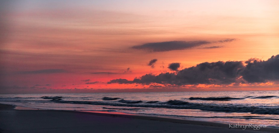 Sailor take warning.... the red, pink & peach colored sky as the sun rises over Jekyll Is...