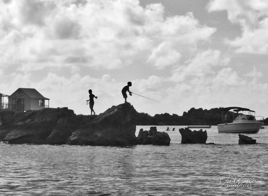 Kids Fishing in Bermuda