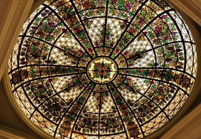 Coloured Glass Ceiling