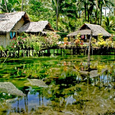 river hut