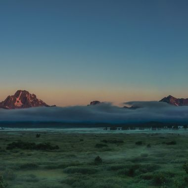 Morning Comes to the Tetons