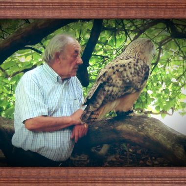 This man has a lot of Love for Owls and this Love is reciprocal