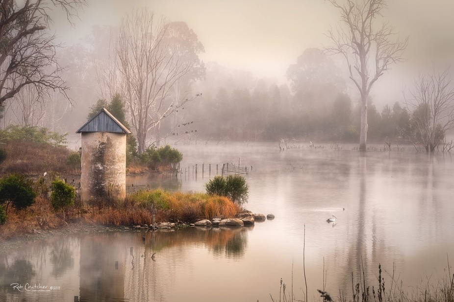 I waited for over 2 hours in the early morning for the fog to clear enough to get this very moody...