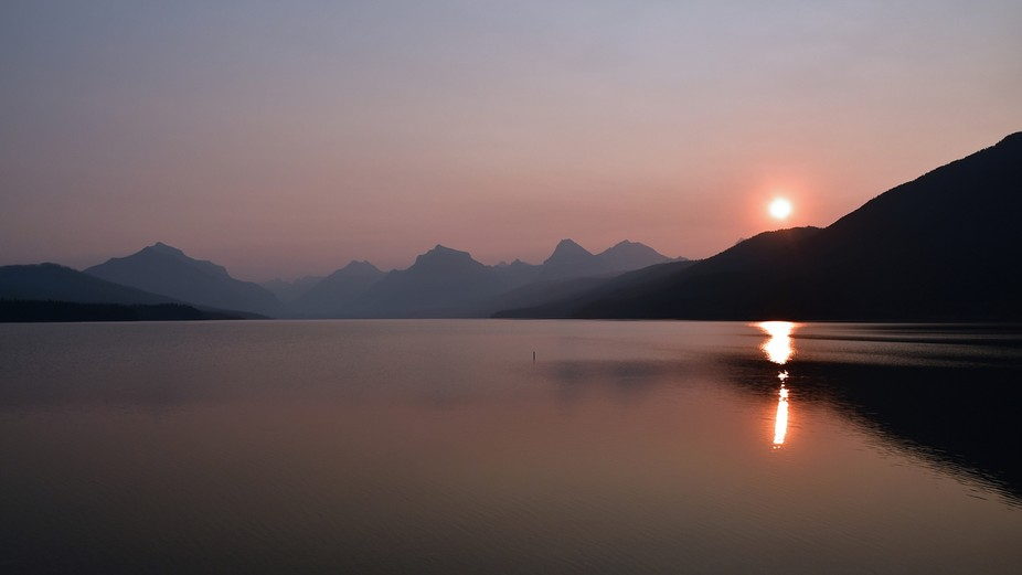Sunrise at Lake McDonald GNP