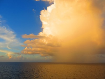 Squall approaching in the Caribbean.