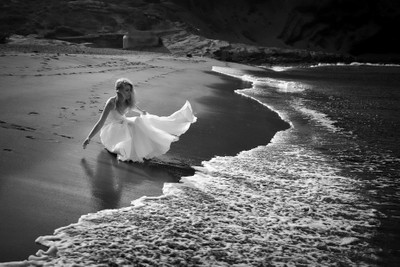 A beach and the bride