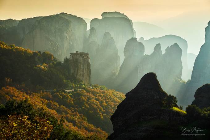 Chasing the light at Meteora by georgeavge - The Natural Planet Photo Contest