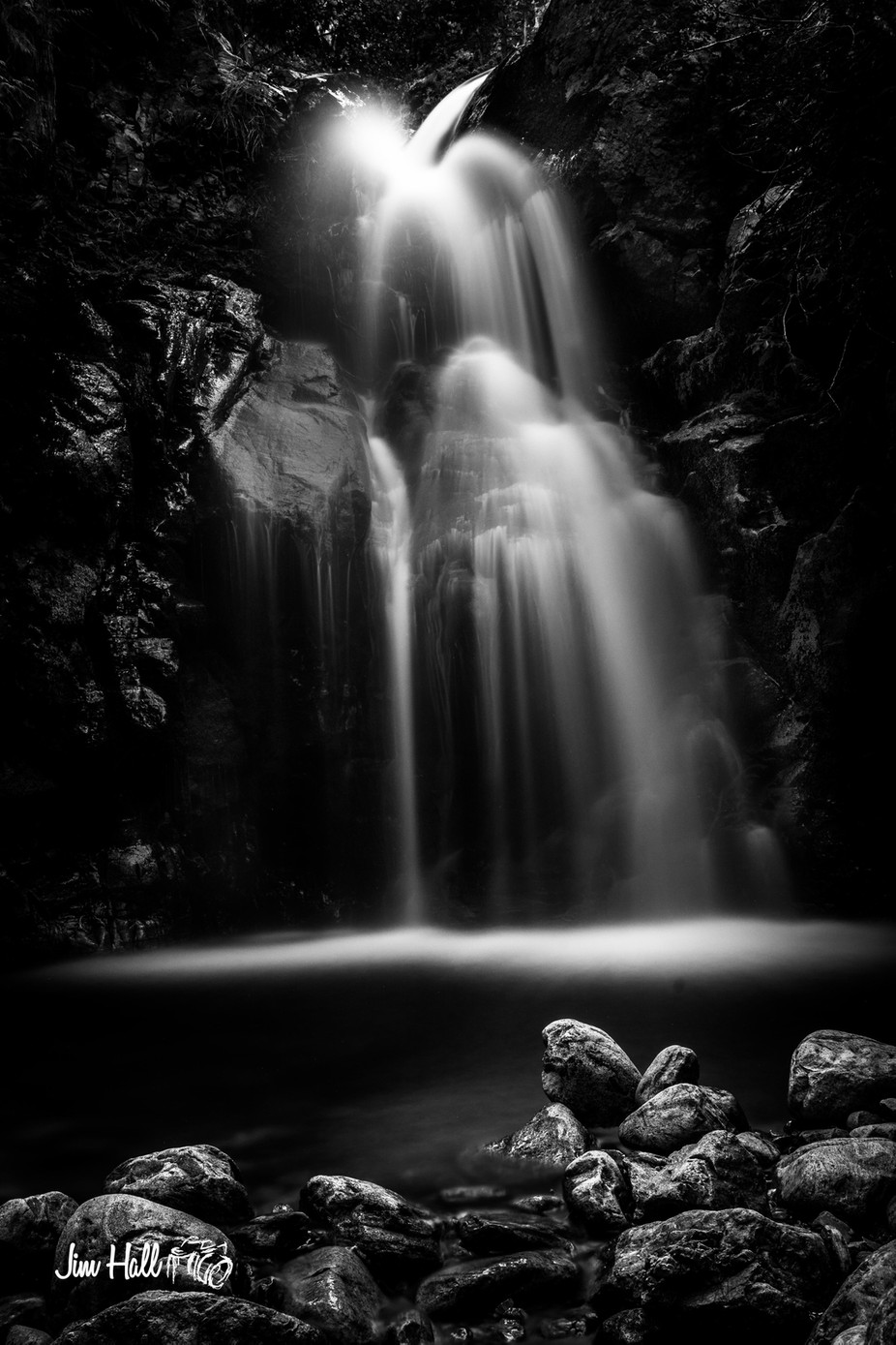 crawford falls-5238 by jimhallmedia - Our World In Black And White Photo Contest