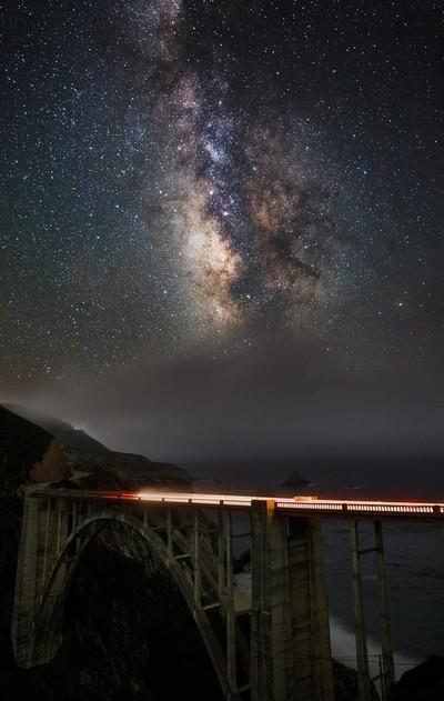 Foggy Milky Way Over Bixby