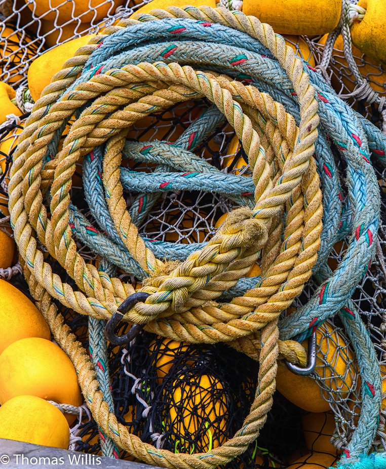 There were a lot of working  boats in Sitka, Alaska. The gear was colorful and had wonderful shapes