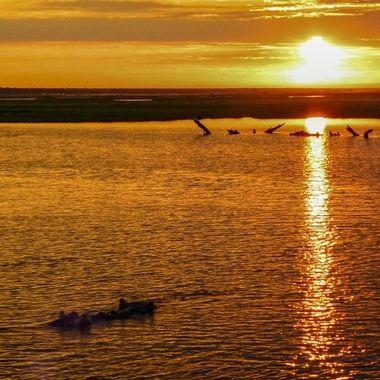 Botswana sunset.