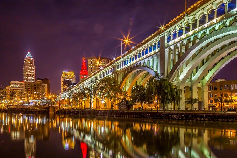 The Detroit Superior Bridge located in Cleveland, Ohio.