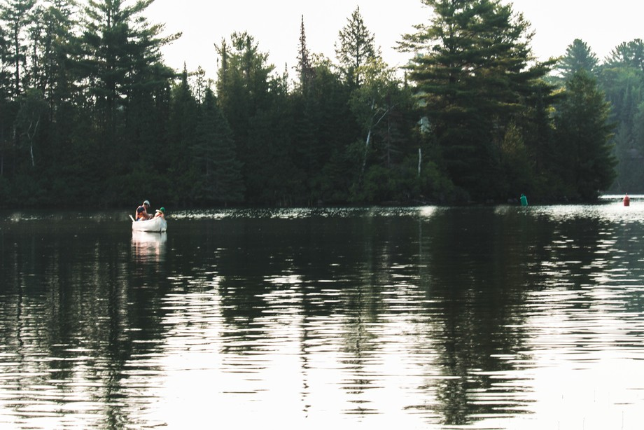 I captured this image of this duo out for a canoe trip, from the shoreline of our family cottage.