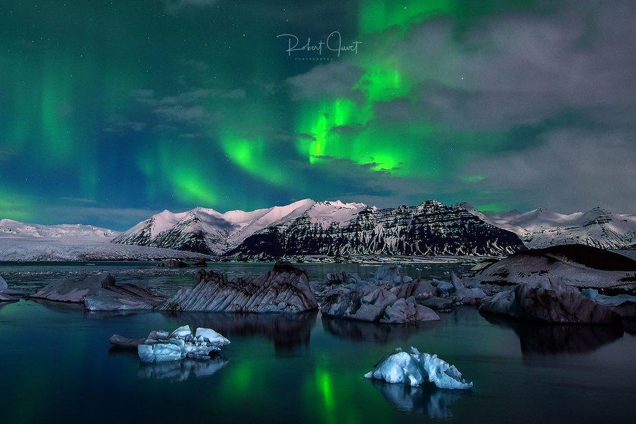 Polarlichter übern Jörkulsarlon
