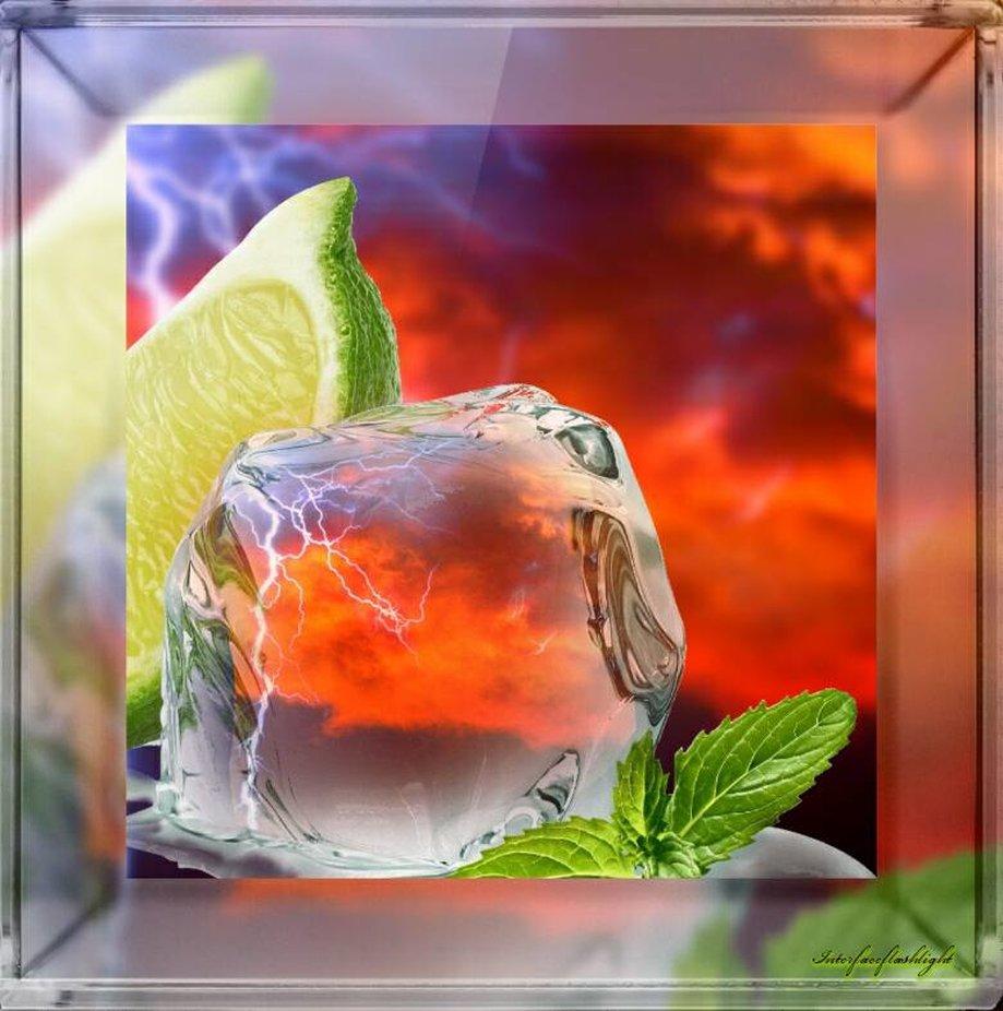Eis auf heiß