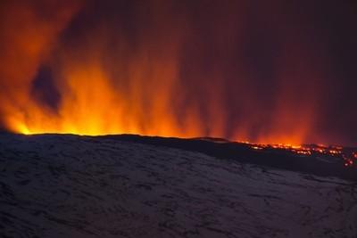 Burning on the mountain
