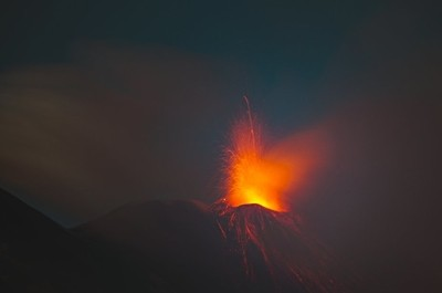 South East Crater is erupting
