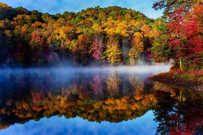 bark_camp_fall by jmhillphoto - Lakes And Reflections Photo Contest