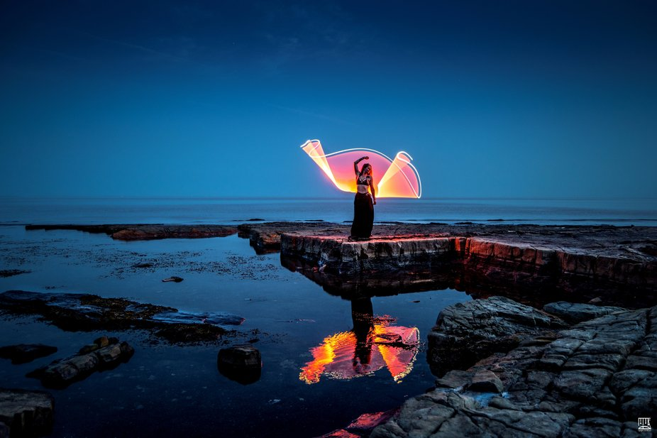 Fire on the water  Last night I returned to the stunning kimmeridge bay in the beautiful dorset h...