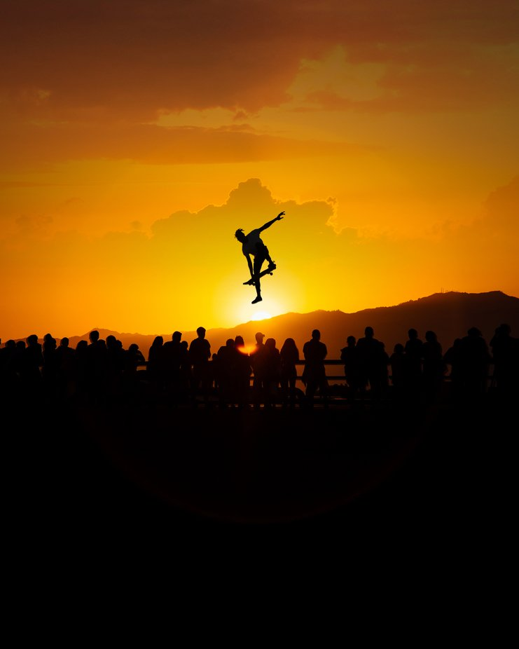 A Venice Skater Photoshopped into the Sunset by canahtam - Social Exposure Photo Contest Vol 17
